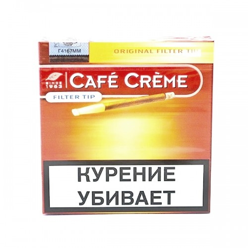 Cигариллы Cafe Creme Original Filter Tip 10 шт. (картон)