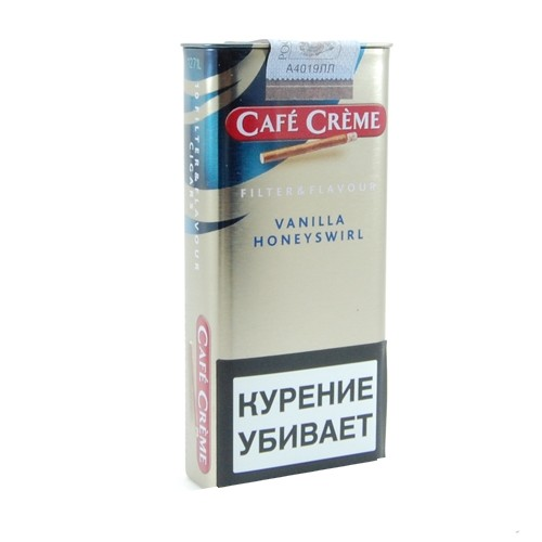 Сигариллы Cafe Creme Filter Vanilla Honeyswirl *10
